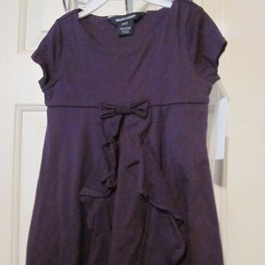 RALPH LAUREN Plum Short Sleeve Dressy Dress